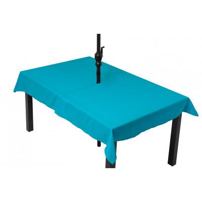 Tablée turquoise (parasol)